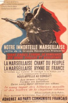 La Marseillaise poster by Anonymous