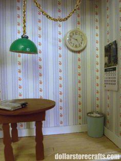 DIY Miniature Dollhouse Wall Clock.