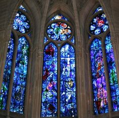 Chagall windows at Cathedral of Notre-Dame, Reims. Google Image Result for http://www.loneleeplanet.com/wp-content/uploads/2007/08/glass.jpg