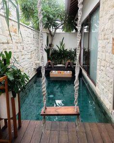 Small Swimming Pools, Small Pools, Swimming Pool Designs, Backyard Pool Designs, Small Backyard Pools, Backyard Patio, Home Room Design, Dream Home Design, Design Homes