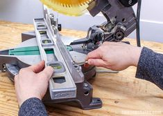 Is your miter saw cutting crooked? It's easy to fix! Simple adjustments to the saw blade and the fence will guarantee straight and accurate cuts every time. Woodworking Techniques, Woodworking Projects, Diy Projects, Woodworking Jigsaw, Learn Woodworking, Hitachi Miter Saw, Circular Saw Jig, Miter Saw Reviews, Miter Saw Table