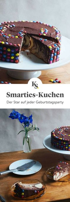 quick sponge cake with chocolate and smarties is guaranteed to be the star . -This quick sponge cake with chocolate and smarties is guaranteed to be the star . Smarties Cake, Birthday Cake For Him, Easy Smoothie Recipes, Coconut Recipes, Pumpkin Spice Cupcakes, Sponge Cake, Fall Desserts, Food Cakes, Ice Cream Recipes