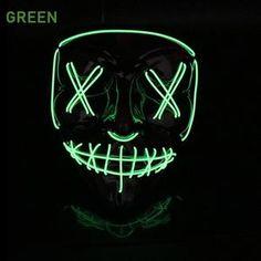 - best accessories of 2019 Light Up Face Mask, Led Light Mask, Halloween Rave, Halloween Skeletons, Creepy Masks, Finger Lights, Xmas Stockings, Mask Party, Party Lights