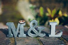 Pretty Pink and Purple Barn Wedding Ideas - Initials | CHWV