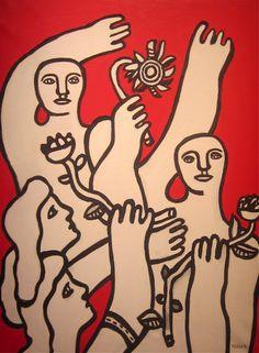 Fernand Léger, La Joie De Vivre, 1955 Signed F. Leger (lower right) Oil on canvas