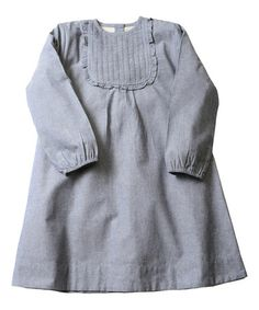 This Navy Chambray Ruffle Bib Dress - Toddler & Girls is perfect! #zulilyfinds