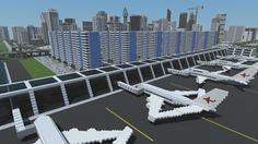 ONO air Minecraft Skyscraper, Minecraft Modern City, Minecraft City Buildings, Minecraft Houses Blueprints, Minecraft Plans, Minecraft House Designs, Minecraft Tutorial, Minecraft Architecture, Cool Minecraft