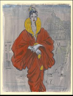 Costume design thought to be created by Cecil Beaton for Eliza in My Fair Lady,1958. Orange dress makeover!