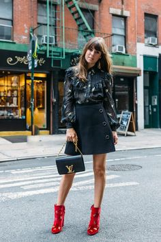 """- Which item reliably makes you feel put together?""""I would definitely have to say that a sleek handbag always keeps my look feeling elevated and pulled together. Even when I'm dressing down, my bags makes me feel polished."""""""