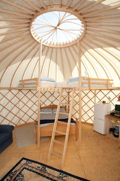 New for 2016! Glamping on the Garlic Farm. Yurts and giant bell tents fully equipped and luxurious!