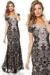 Vestido de renda com detalhe de guipir - L15805