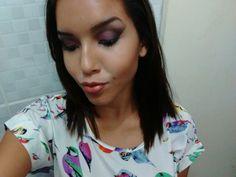 Make purple and Black for night party Maquiagem roxa e preta para festa a noite