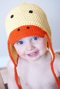 Just Ducky Earflap Hat Crochet Pattern *Instant Download* (Permission to sell all finished products)/My Etsy Patterns
