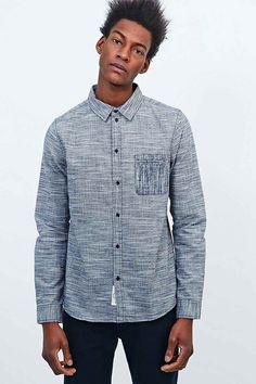 Native Youth Linear Grain Shirt In Dark Denim in Blue for Men (DENIM) | Lyst
