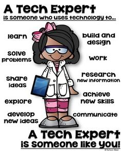 STEM TECH EXPERT POSTER FOR ELEMENTARY - SOMEONE WHO - TeachersPayTeachers.com