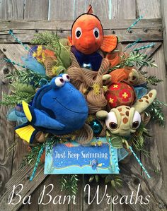 Dory Wreath Dory Party Little Nemo Wreath Little by BaBamWreaths