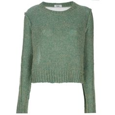 Pre-owned Acne Sweater (1 760 SEK) ❤ liked on Polyvore featuring tops, sweaters, green, green sweater, green top and acne studios