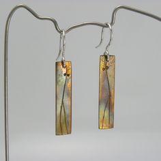 """Copper earrings, """"Th"""