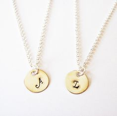 personalized initial necklace, friendship necklace by RobertaValle