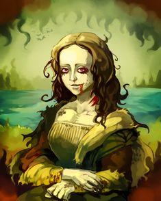 0211 Sa-Dui - Commission_ Mona Lisa Zombie