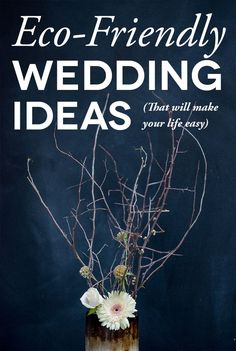 An eco friendly wedding can be:     easy, fun,  wallet pleasing, AND beautiful!  Some great ideas to get you started...