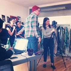 Some of the team hard at work on our SS14 'How to wear' shoot! #SS14 #FashionFilm #Instafashion