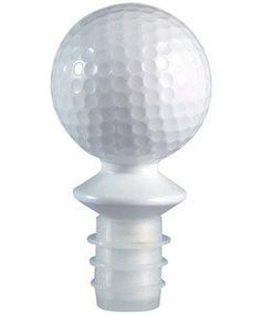 White Acrylic Golf Ball Stopper - Tee Time by HomeAndWine.com. $2.99. Air-tight silicone seal.. White color. Made of slid acrylic. Golf ball shape. Top your favorite vintage with this fun solid acrylic bottle stopper with air-tight silicone seal. Attractively packaged in clear a PVC display box for shelf or J-hook display.
