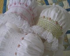 Smocked Baby Bonnet ...Easter