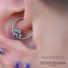 5pointleo: Daith piercing by our piercer...