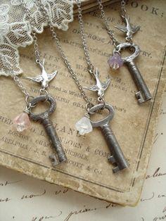 three vintage keys