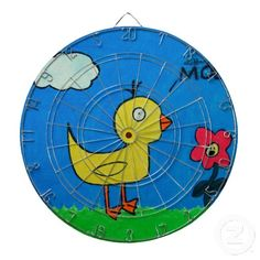 Duck and Flower Dartboard