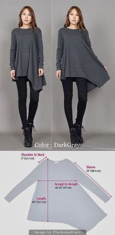 asymmetrical tunic with pattern