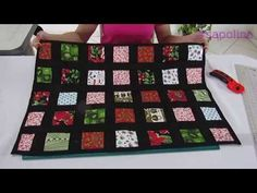 Tossed Nine Patch Technique House Quilt Block, House Quilts, Baby Quilts, Quilt Blocks, Hardanger Embroidery, Machine Embroidery, Sewing Hacks, Sewing Projects, Tutorial Patchwork