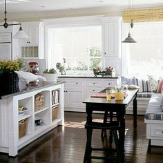 Nimble Nesting - Coastal Living Built In Daybed, Daybed With Storage, Outdoor Seating, Outdoor Rooms, Bookcase Styling, Lake Cottage, Dining Nook, Living Styles, Coastal Living