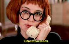 Annie Potts as Janine Melnitz in Ghostbusters 2: model receptionist