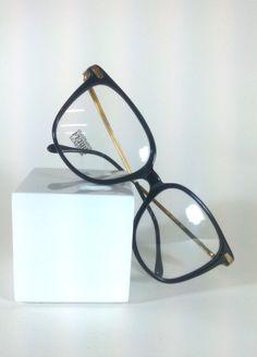 Gianfranco Ferre Mod:GFF71,Vintage 80s Gianfranco Ferre Horn Rimmed Black Eyeglasses, Hipster Black Eyeglasses by KNVintageEyeglasses on Etsy
