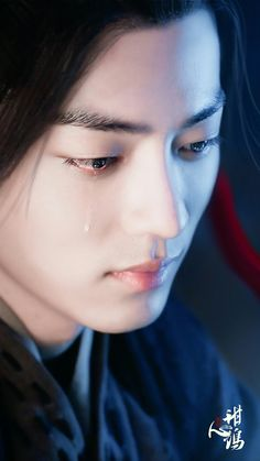 "Brokenhearted Wei Wuxian (Xiao Zhan) in ""The Untamed"" Handsome Anime Guys, Handsome Boys, Photo Book, Dramas, Character Art, Actors & Actresses, Beautiful Men, Singer, Wattpad"