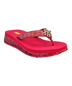 9af4fa7041bfe6 Take a look at this Red Mansfield Sandal by VOLATILE on  zulily today! Cute