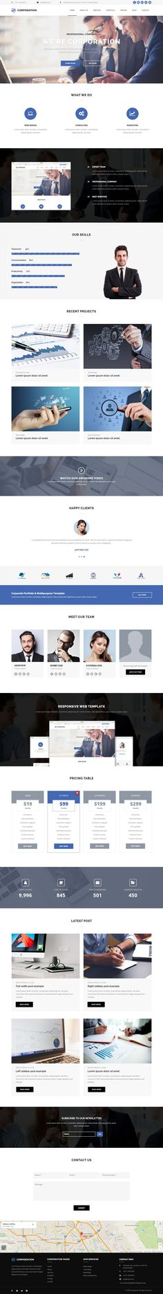 Orion One Page Muse #Web #Template is ideal for promotion of your - company portfolio template