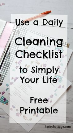 Daily cleaning checklist   free printable cleaning checklist