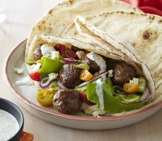 Moroccan lamb meatball feast at http://chelseawinter.co.nz/moroccan-lamb-meatballs/