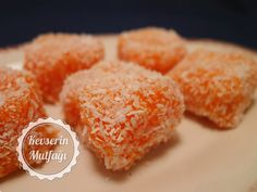 How to Make Carrot Delight Recipe? The tricks of the Carrot Delight With Picture from Kevserin Cuisi Lokum Recipe, Wie Macht Man, Turkish Delight, Turkish Recipes, Bon Appetit, Food Hacks, Granola, Dessert Recipes, Food And Drink