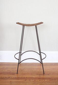 Vintage Barstool // Mid Century Chair // Vintage by adVintagous, $45.00