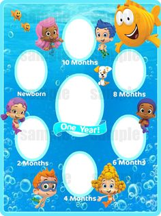 Lexi on pinterest bubble guppies birthday bubble guppies and bubble guppies invitations - Bubble guppies birthday banner template ...
