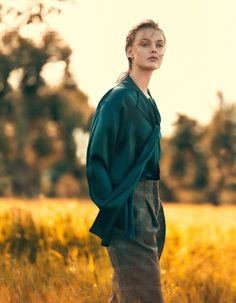 Frida Gustavsson in Elle Sweden August 2015 (photography: Andreas Sjodin, styling: Lisa Lindqwister) via fashioned by love / british fashion blog
