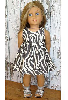 Zebra dress for American Girl doll