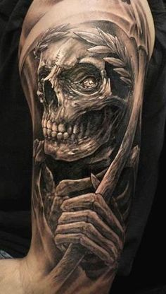 Realism Skull Tattoo by Nicko Metalink