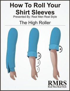 5 Ways To Roll Your Shirt Sleeves