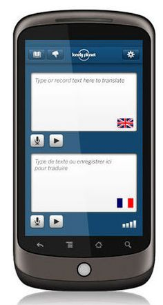 You talk. It translates. No internet connection required.       Simply talk or type a phrase and the app will instantly give you the audio and text translation.     Currently available in Spanish, French, German, Chinese, Japanese, Korean, Tagalog and Iraqi Arabic.
