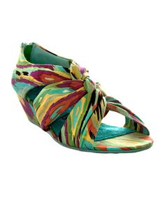 Take a look at this Blue Cha Cha Wedge Sandal by Blowfish Malibu on #zulily today!